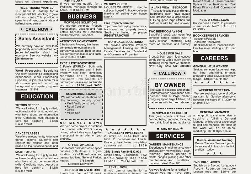 reklama klasyfikująca ilustracji