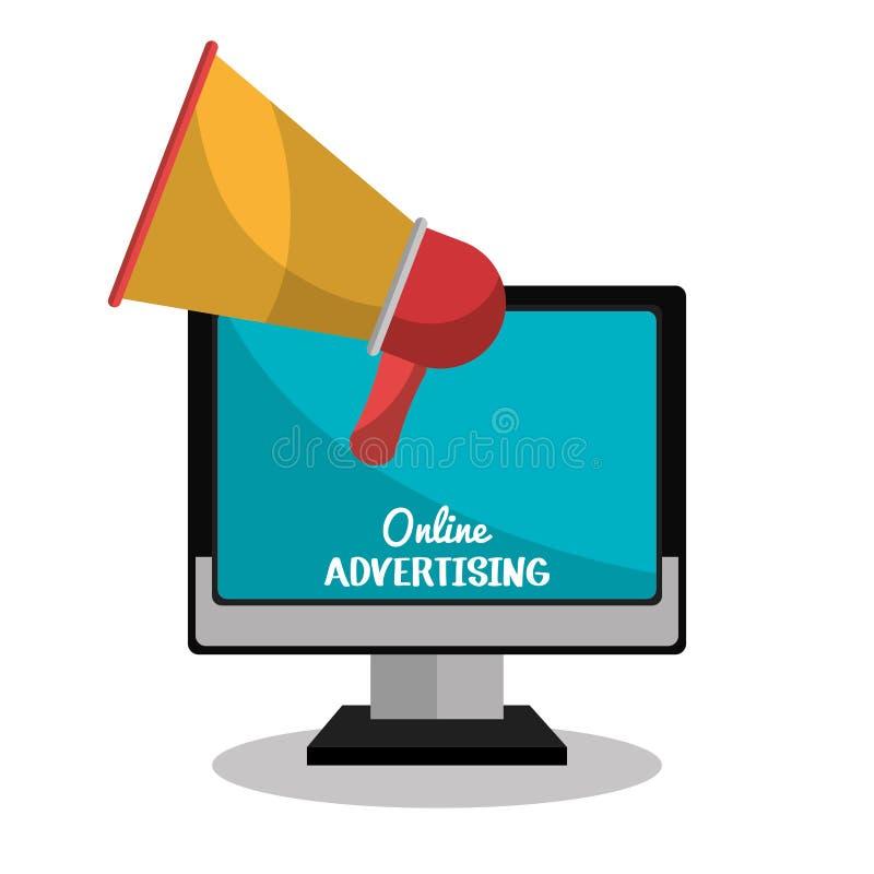 reklama online projekt ilustracji