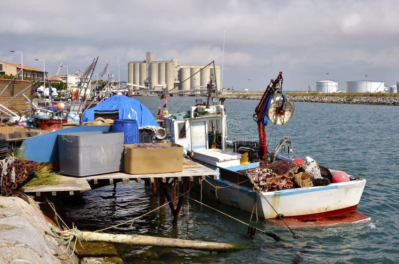 Reklama port port-la-nouvelle w Francja obraz royalty free