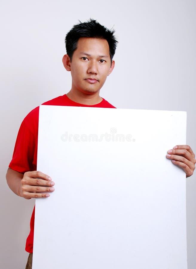 reklama pusty papieru obrazy stock