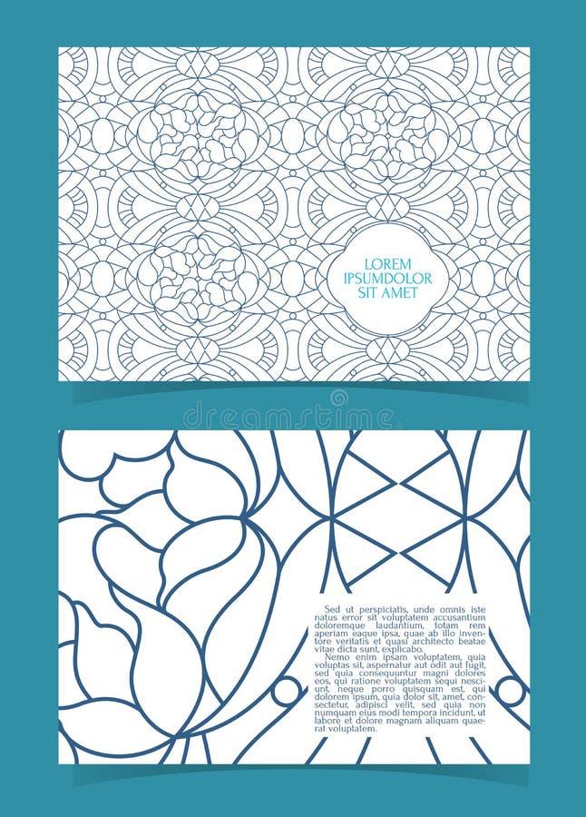 Reklamblad broschyr, häfteorientering Redigerbar designmall A5 royaltyfri illustrationer