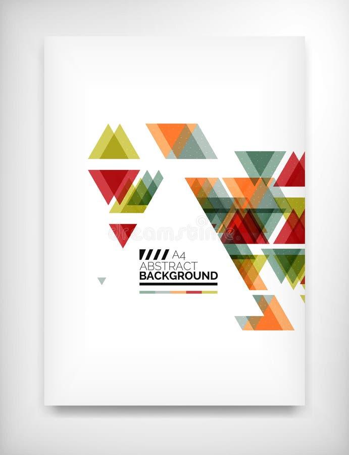 Reklamblad broschyrdesignmall, orientering royaltyfri illustrationer