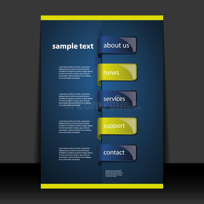 Reklamblad- eller räkningsdesign vektor illustrationer