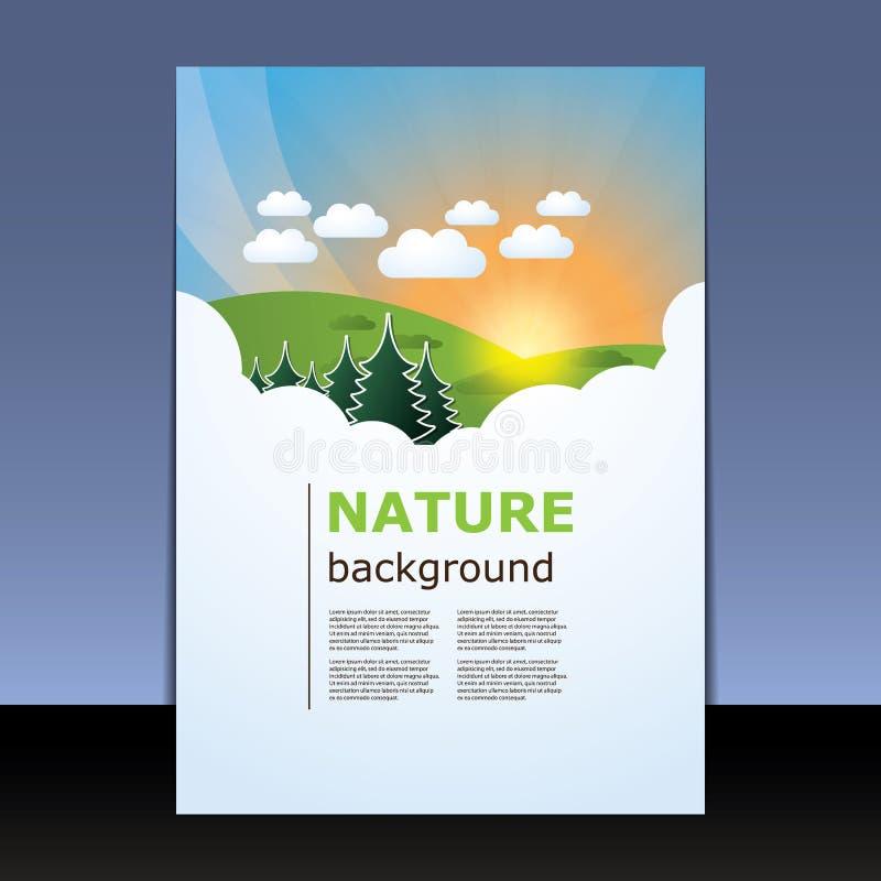 Reklamblad- eller räkningsdesign stock illustrationer