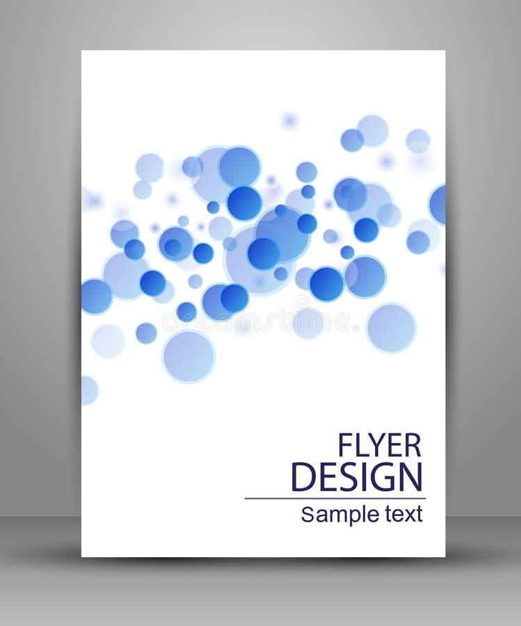 Reklamblad- eller räkningsdesign - affärsvektor stock illustrationer