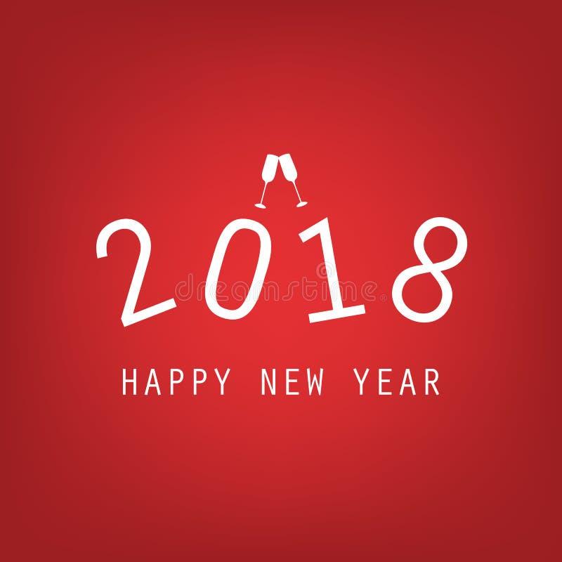 Reklamblad- eller räkningsdesign för nytt år - 2018 royaltyfri illustrationer
