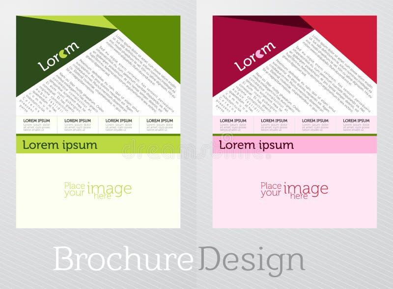 Reklamblad för affär i idérika två olika lappar för en färg i en idérik lutning färgar bakgrund arkivbilder