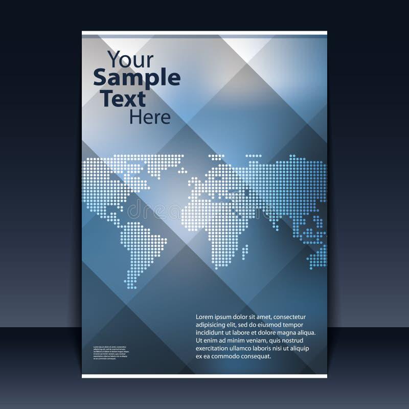 reklamblad för affärsdesign stock illustrationer
