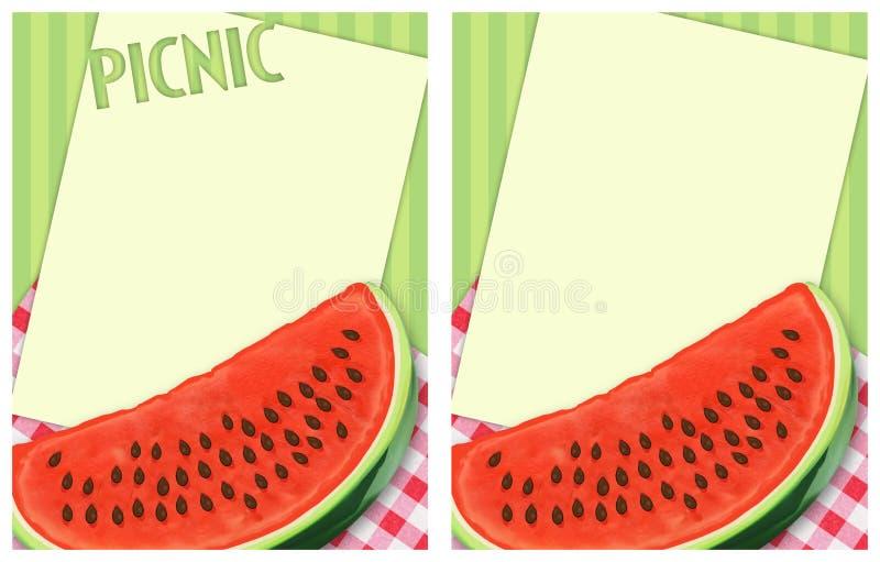 Reklamblad för picknickBBQ-inbjudan royaltyfri illustrationer