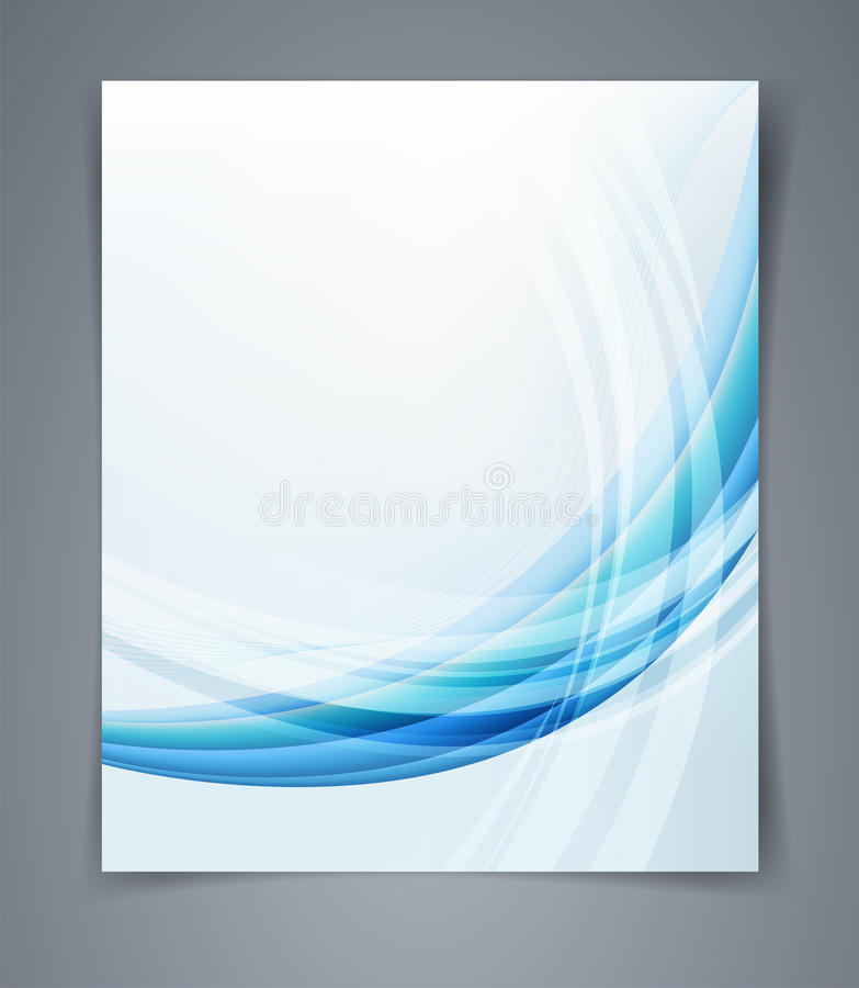 Reklamblad för vektororienteringsaffär, tidskrifträkning eller designmallannonsering royaltyfri illustrationer