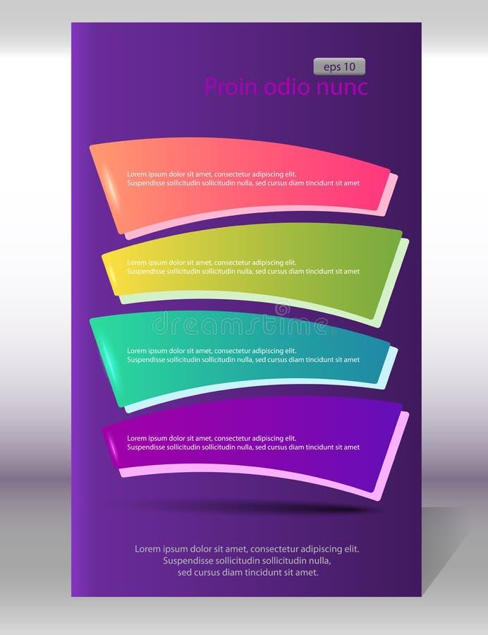 Reklamblad-lodlinje-orientering-sida-lila-bakgrund arkivbild