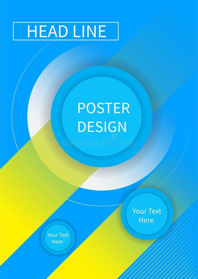 Reklambladbroschyrdesign, mall för affärsreklambladformat A4, idérik broschyr, trendräkningstrianglar royaltyfri illustrationer
