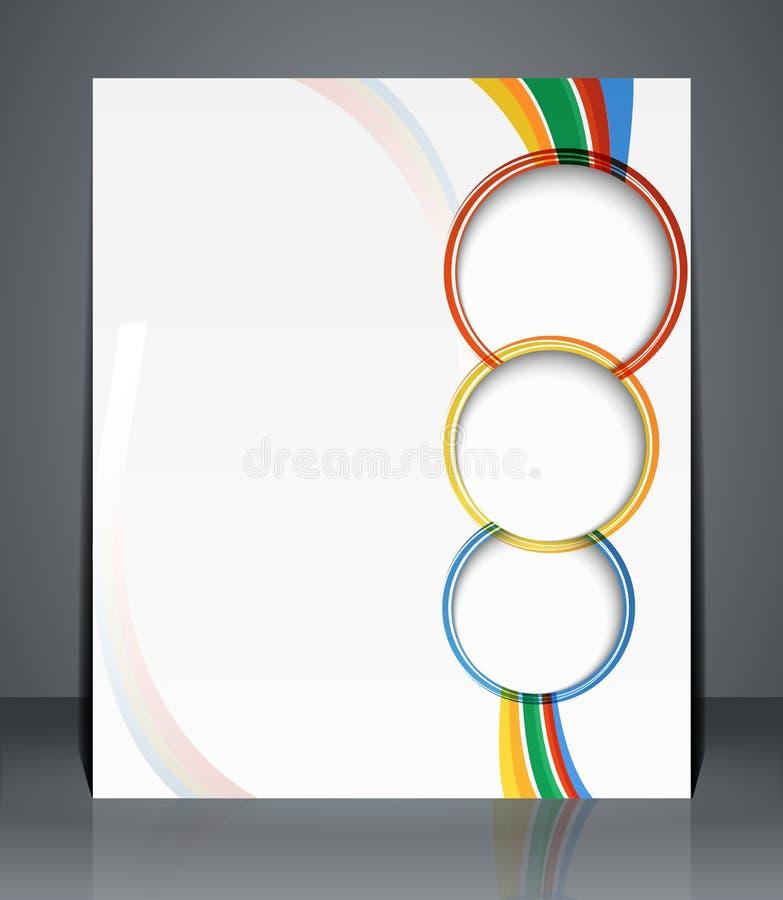 Reklambladdesign, mall eller en tidskrifträkning med band. vektor illustrationer