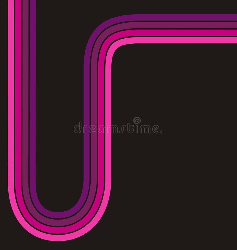 reklambladet lines den rosa mallen vektor illustrationer
