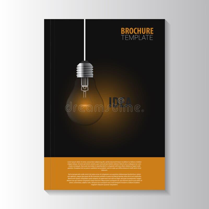 Reklambladmall Räkningstidskrift Denna är mappen av formatet EPS10 Kula royaltyfri illustrationer