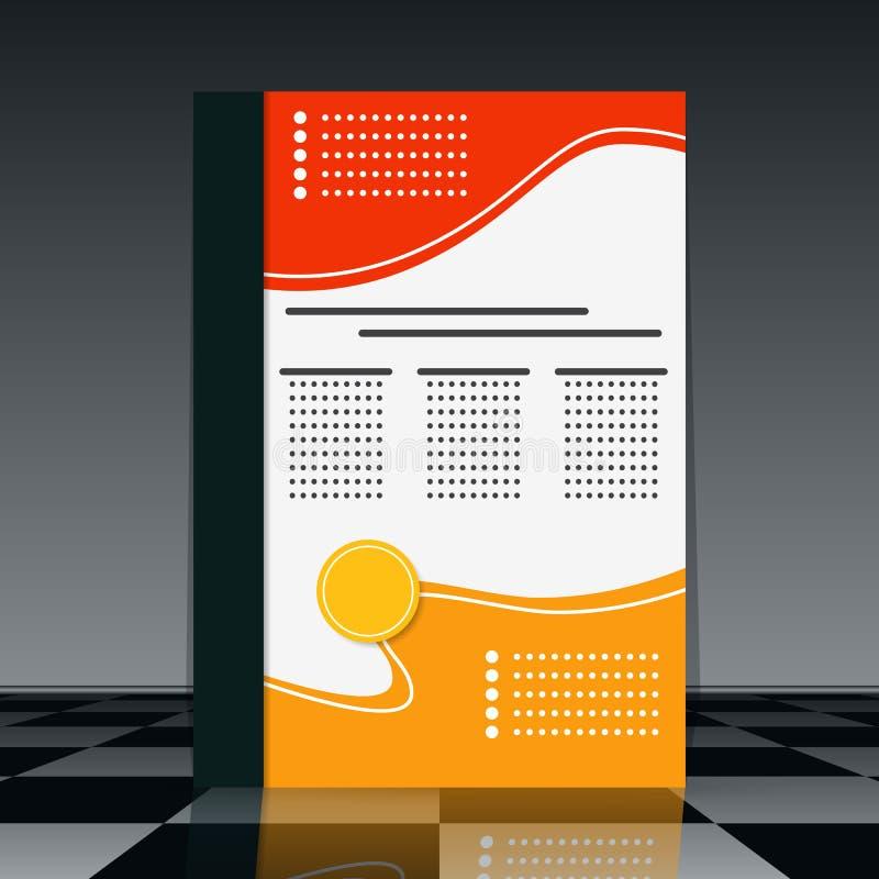 Reklambladvektormall vektor illustrationer