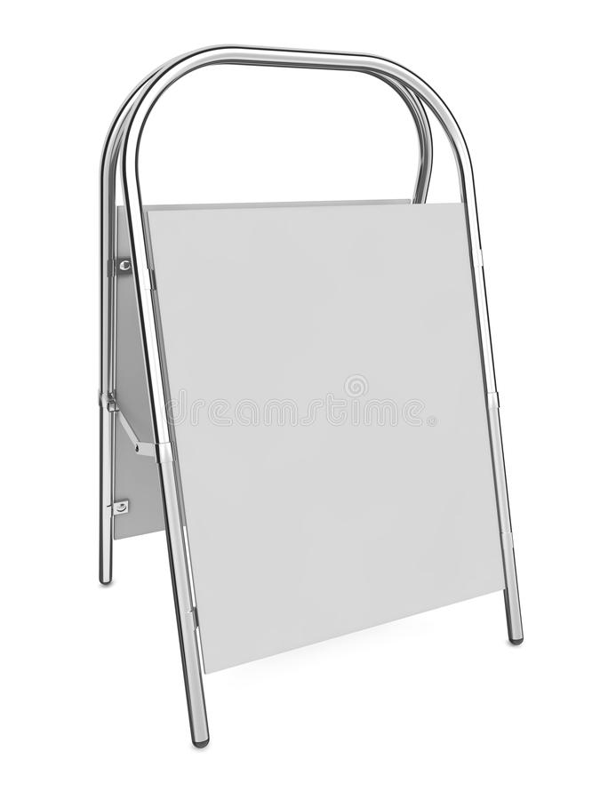 Reklametafel getrennt auf Weiß. lizenzfreie abbildung