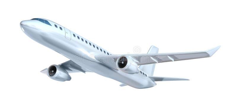 Reklamfilmflygplanbegrepp. Min egna design. Isolerat på vit vektor illustrationer