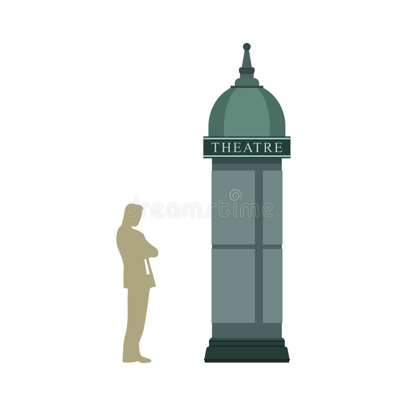 Reklamować Morris kolumnę ilustracja wektor