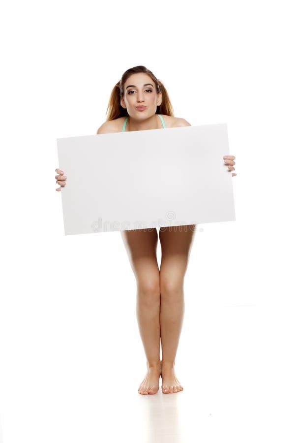 Reklamowa kobieta w bikini zdjęcia stock