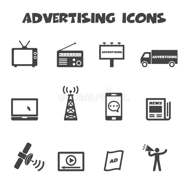 Reklamowe ikony ilustracji