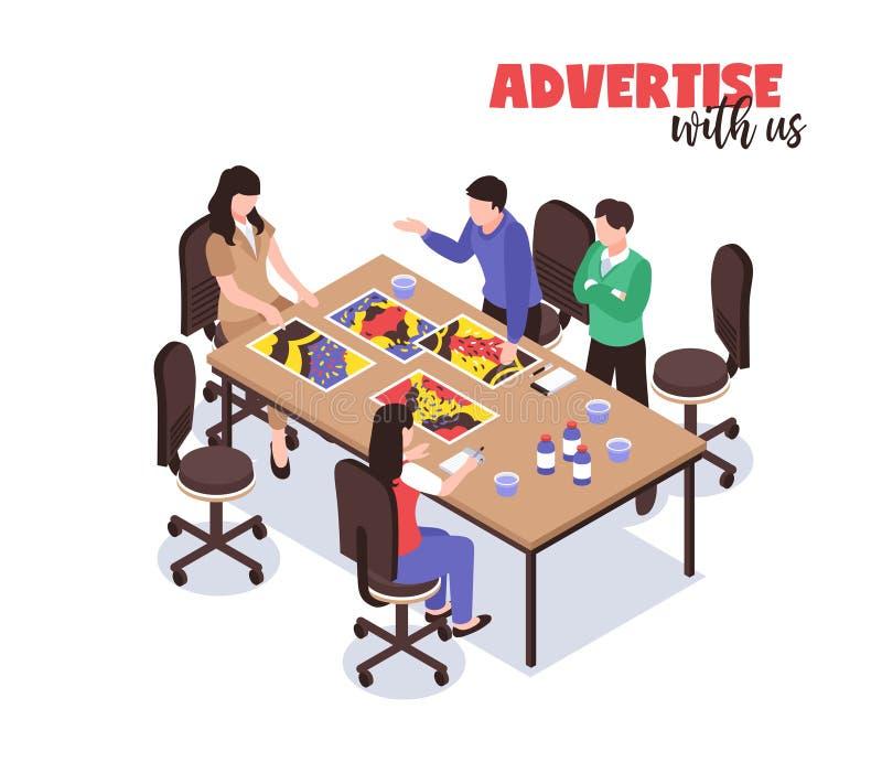 Reklamowej agenci pojęcie ilustracji
