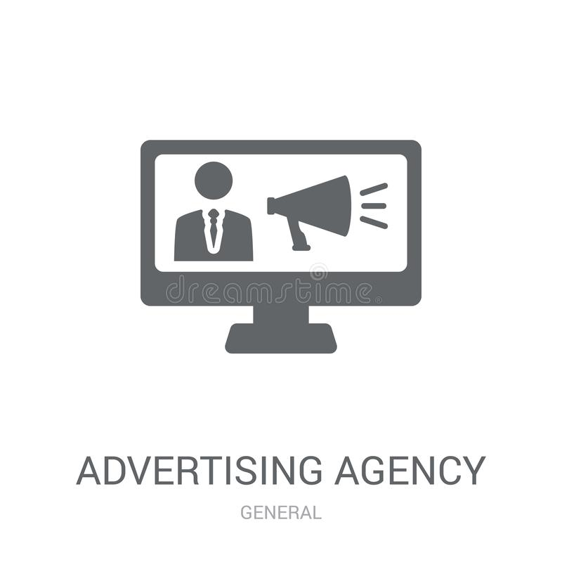 reklamowej agencji ikona  royalty ilustracja