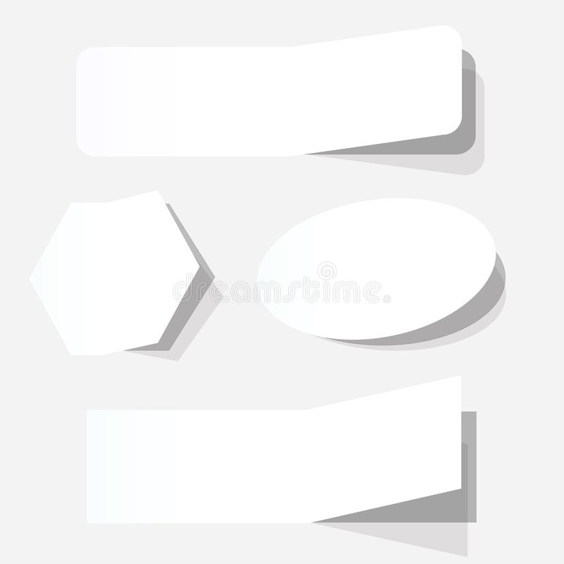 reklamowi puści talony ustawiają biel ilustracji