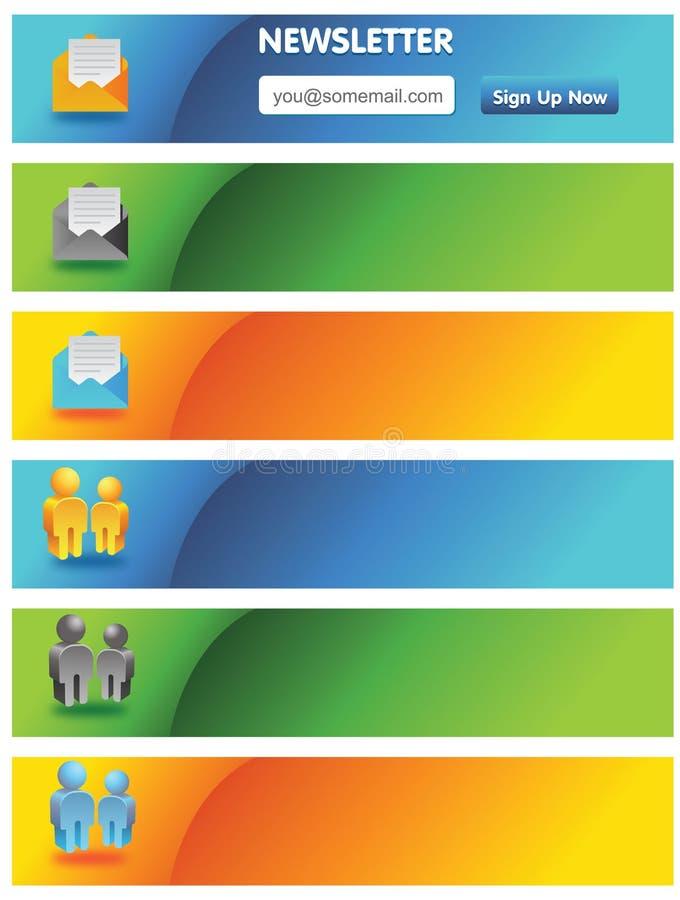 reklamowi sztandary royalty ilustracja