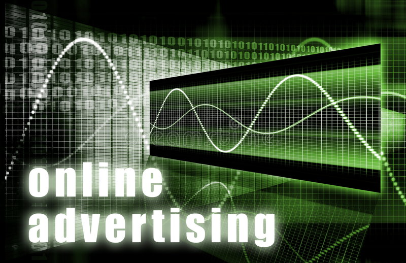 reklamowy online royalty ilustracja