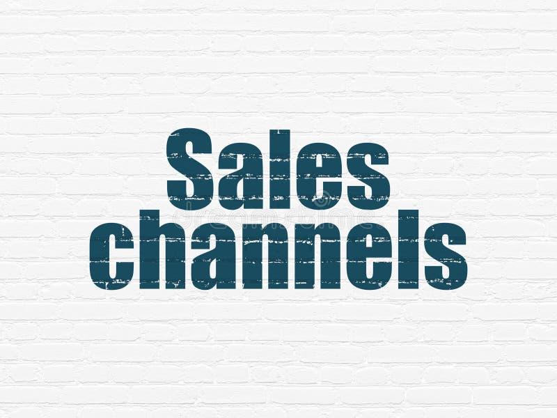 Reklamowy pojęcie: Sprzedaż kanały na ściennym tle royalty ilustracja