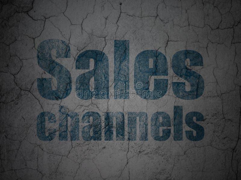 Reklamowy pojęcie: Sprzedaż kanały na grunge ściany tle royalty ilustracja
