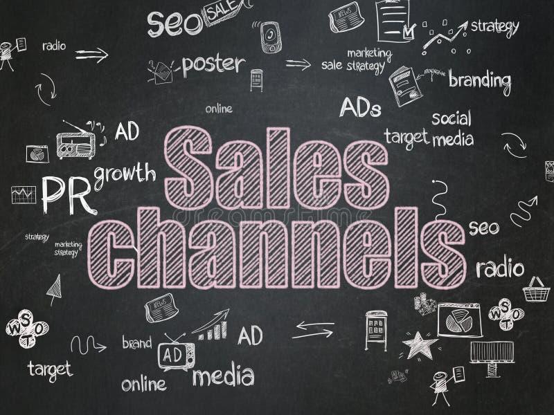 Reklamowy pojęcie: Sprzedaż kanały na szkole royalty ilustracja