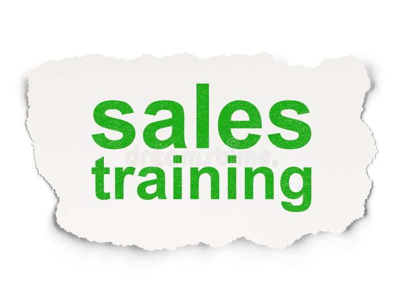 Reklamowy pojęcie: Sprzedaży szkolenie na Papierowym tle zdjęcia royalty free