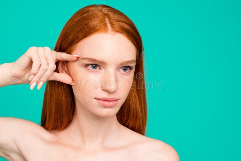 reklamowy pojęcie W górę portreta ładny śliczny atrakcyjny r fotografia stock