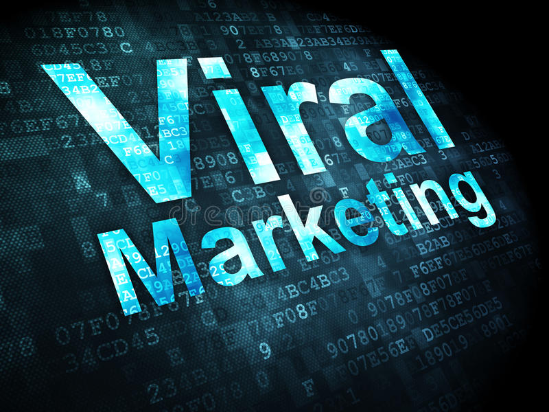 Reklamowy pojęcie: Wirusowy marketing na cyfrowym royalty ilustracja