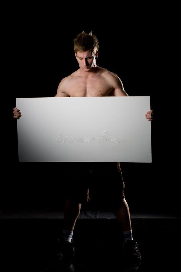 reklamowy pustego miejsca deski pojęcie zdjęcia stock