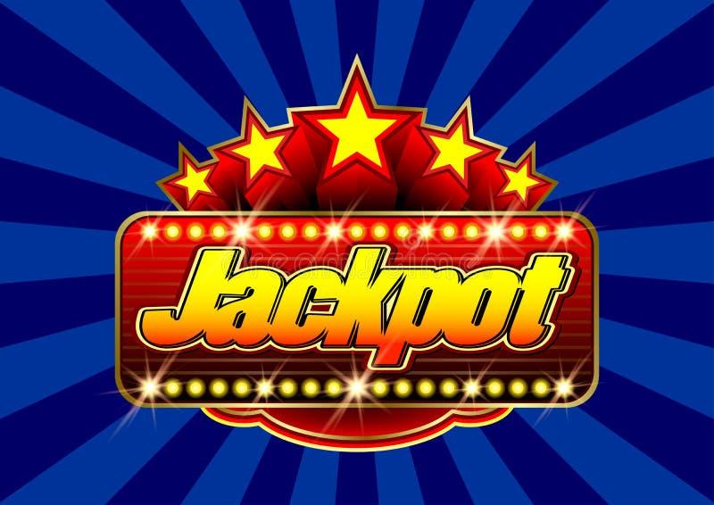 Reklamowy signboard kasyno - najwyższa wygrana w wektorze ilustracja wektor