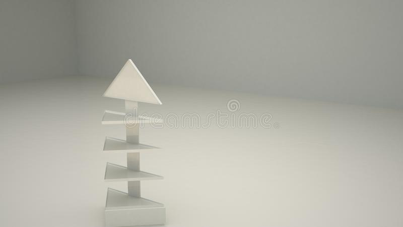 Reklamowy szelfowy trójbok 4 C2 ilustracji