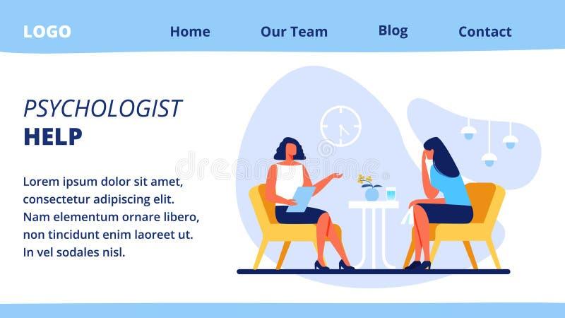 Reklamowy wizerunek Psycholog pomoc wektor ilustracji