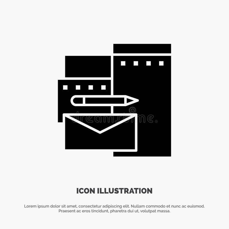 Reklamujący, Oznakujący, tożsamość, Korporacyjny stały glif ikony wektor ilustracji
