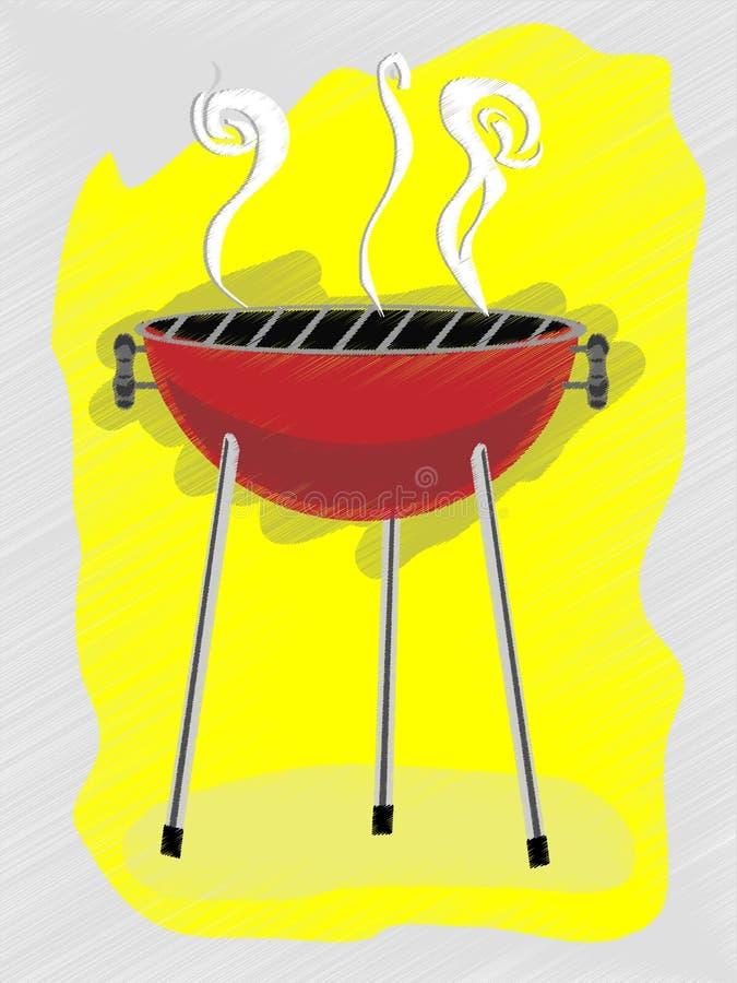 reklamy bbq retro skrobaniny szkicowy styl ilustracja wektor