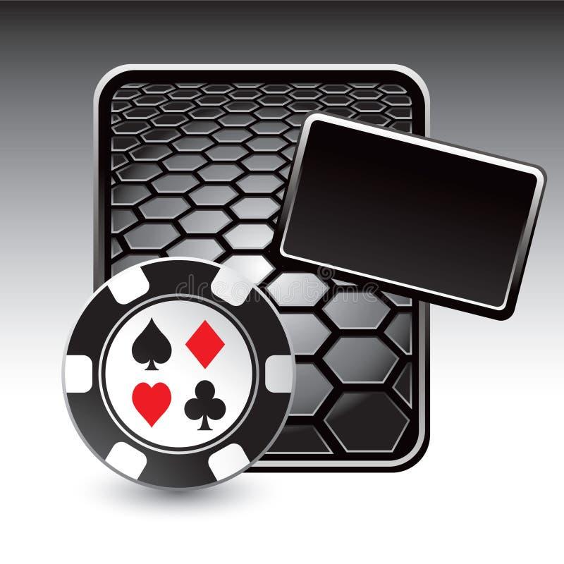 reklamy czarny kasynowy układ scalony sześciokąt royalty ilustracja