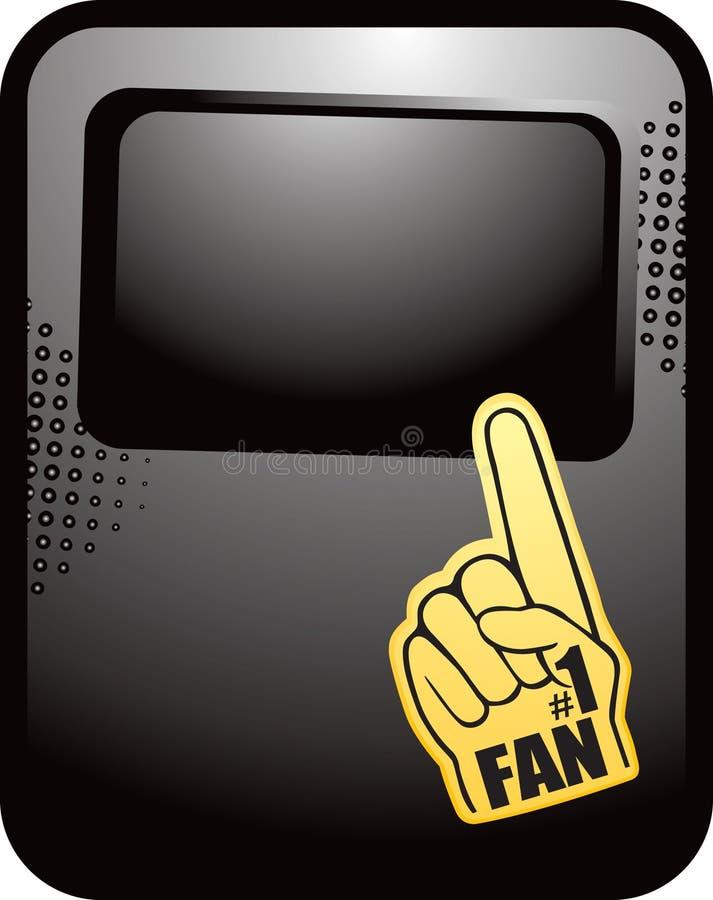 reklamy czerń fan halftone ręka liczba jeden royalty ilustracja