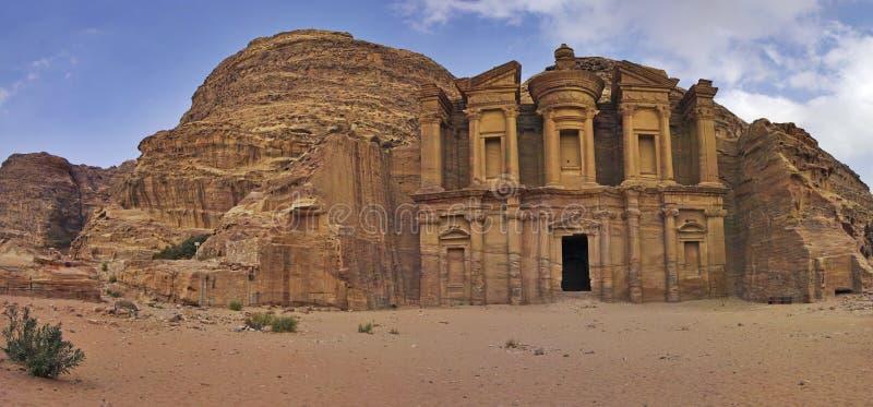 reklamy deir Jordan monasteru petra fotografia stock