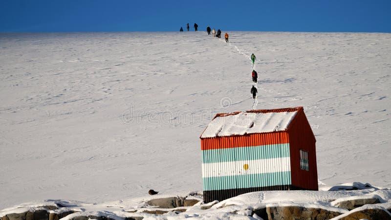 Rekonesansowa śnieżna Wiencke wyspa w Antarctica obrazy stock