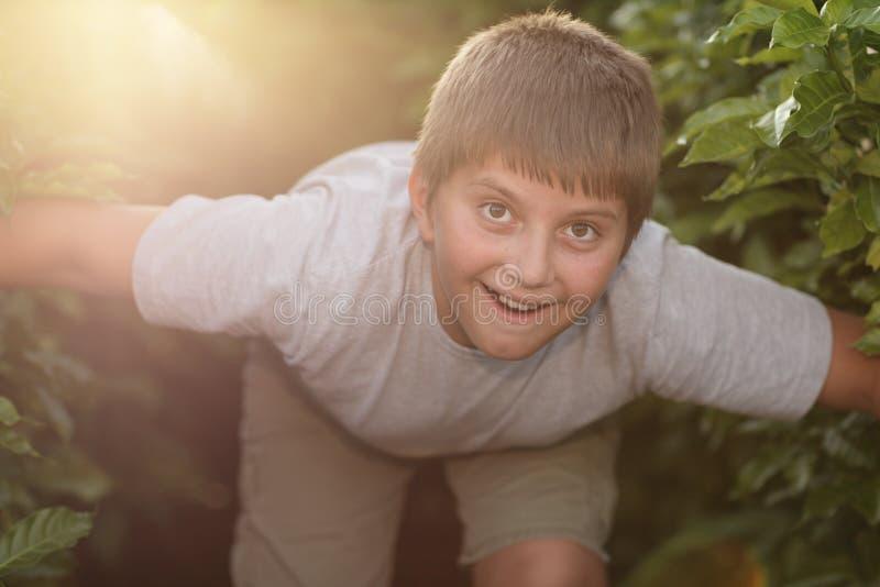 rekonesansowa chłopiec natura zdjęcia royalty free