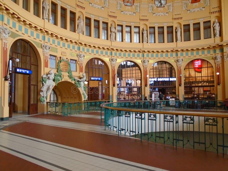 Rekonstruktion av den nationella teatern Prague Tjeckien, arkivbild