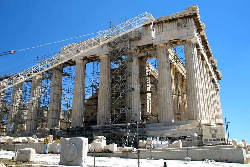 Rekonstruktion der Akropolises von Athen, Griechenland lizenzfreies stockfoto
