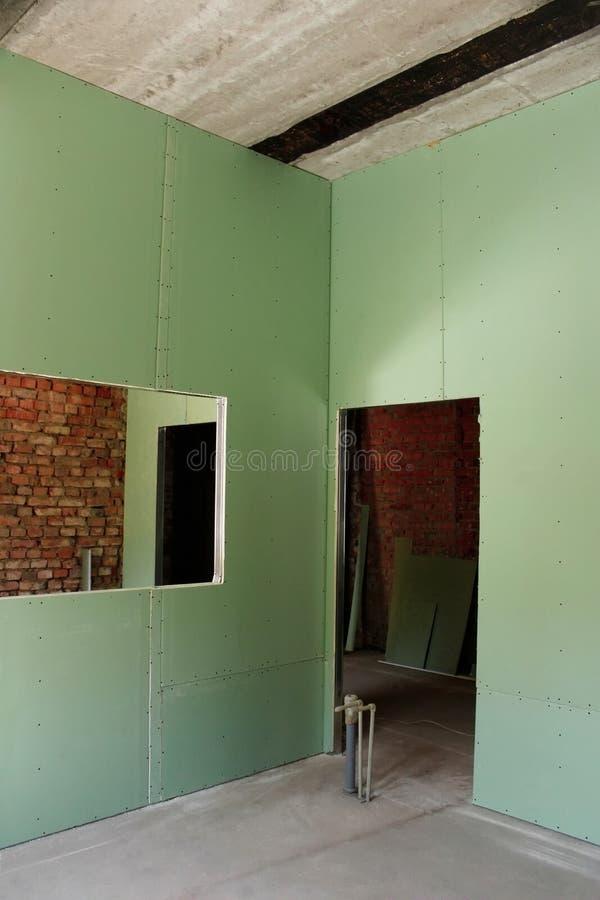 Rekonstruktion des Hausinnenraums stockfotos